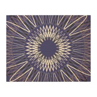Líneas onduladas púrpuras impresiones en madera