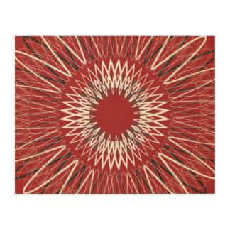 Líneas onduladas rojas cuadros de madera