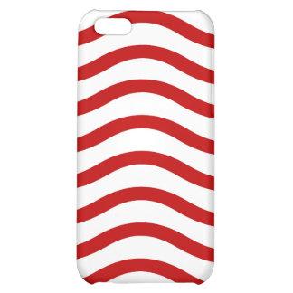 Líneas onduladas rojas y blancas regalos de la div