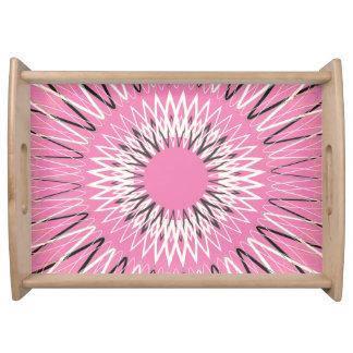 Líneas onduladas rosa bandeja