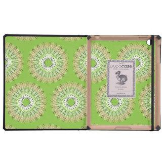 Líneas onduladas verde del modelo iPad protectores