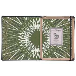 Líneas onduladas verde iPad cobertura