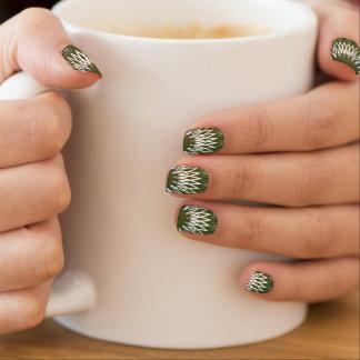Líneas onduladas verde pegatina para manicura