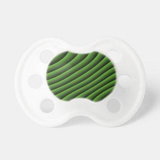 Líneas onduladas verdes hipnóticas pacificador chupetes para bebés