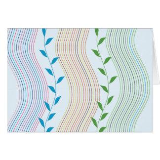 Líneas onduladas verticales de la hiedra tarjeta pequeña