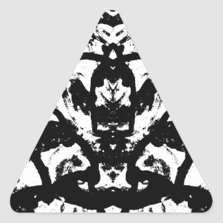 líneas pegatina triangular
