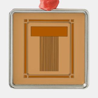 Líneas rectas art déco con el monograma, letra T Adorno De Reyes