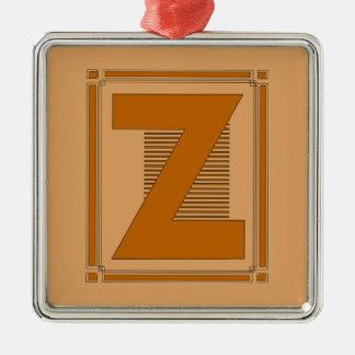 Líneas rectas art déco con el monograma, letra Z Adornos