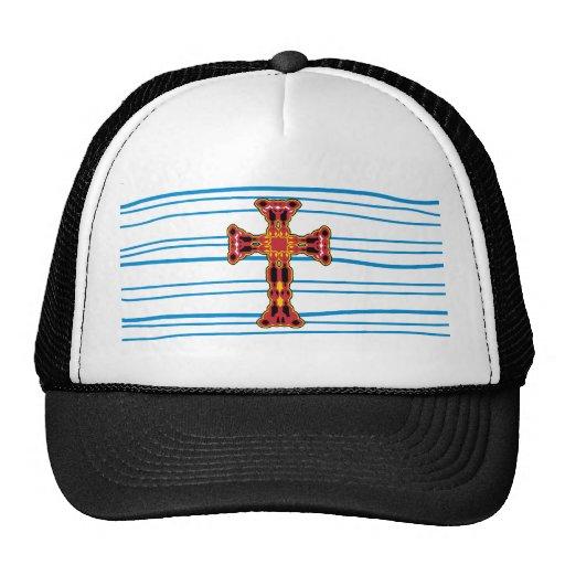 Líneas rojas de lujo cruzadas gorras