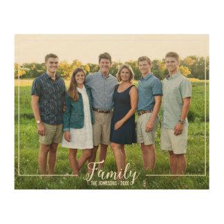 Líneas simples de familia del retrato de encargo cuadros de madera