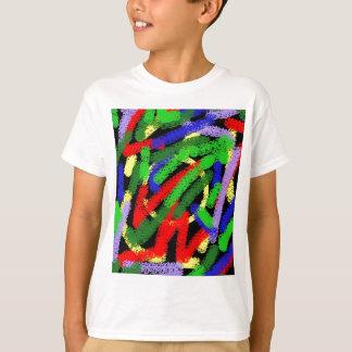 Líneas squiggly fluorescentes coloridas camiseta