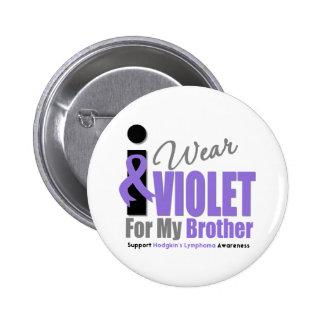 Linfoma de Hodgkins llevo la cinta violeta Brother Chapa Redonda De 5 Cm