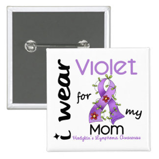 Linfoma de Hodgkins llevo la violeta para mi mamá Chapa Cuadrada