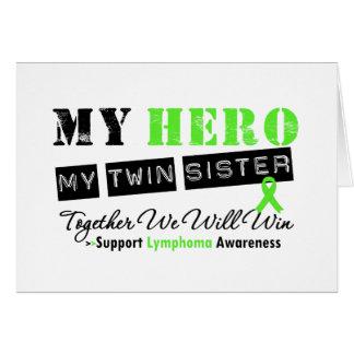 LINFOMA mi héroe mi hermana gemela que ganaremos Tarjeta De Felicitación