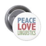 Lingüística del amor de la paz chapa redonda de 5 cm