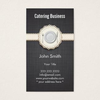 Lino elegante de la oscuridad del cordón del tarjeta de negocios