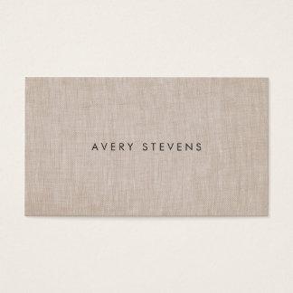 Lino llano simple del artista minimalista tarjeta de negocios