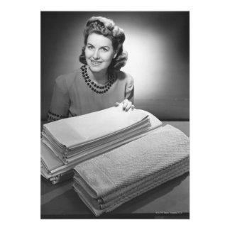 Lino y toallas planchados comunicado