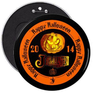 Linterna 2014 de Jack O del feliz Halloween negra Chapa Redonda 15 Cm