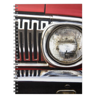 Linterna clásica del coche cuaderno