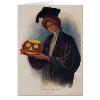 Linterna de Halloween Jack O de la graduación de Tarjeta De Felicitación