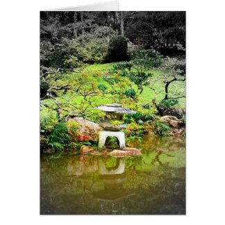 Linterna de piedra japonesa felicitaciones