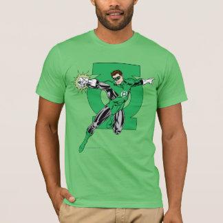 Linterna verde con el fondo del logotipo camiseta