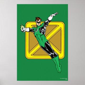 Linterna verde con el fondo póster