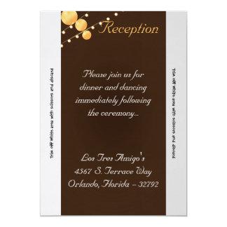 linternas de papel Bro de la tarjeta de la Invitación 12,7 X 17,8 Cm