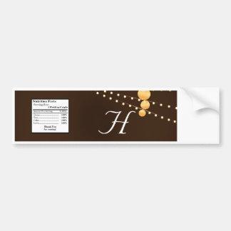 Linternas de papel de etiqueta de la botella de ag pegatina para coche