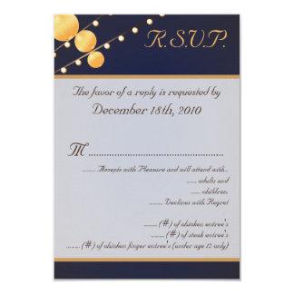 linternas de papel de la tarjeta de 3.5x5 R.S.V.P. Invitación 8,9 X 12,7 Cm