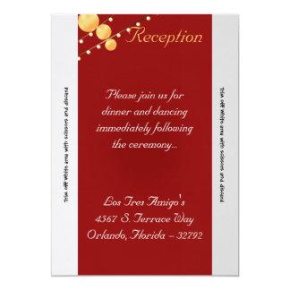 linternas de papel de la tarjeta de la recepción invitación 12,7 x 17,8 cm