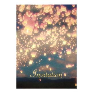 Linternas del deseo del amor - invitación del cump