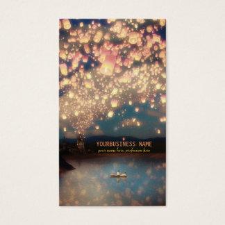 Linternas del deseo del amor tarjeta de visita