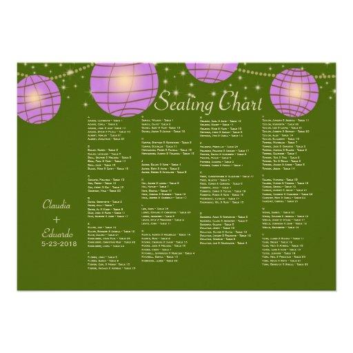 Linternas festivas con verde y lavanda de musgo en anuncios
