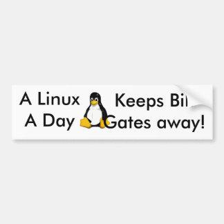 Linux al día… pegatina para coche