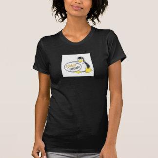 LINUX DENTRO de Tux el logotipo del pingüino de Li Camisetas