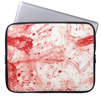Lío de la salpicadura de la sangre funda para ordenador