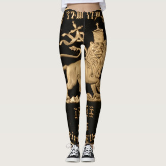 Lion of Judah Ir - Rasta oro Power yoga - Leggings