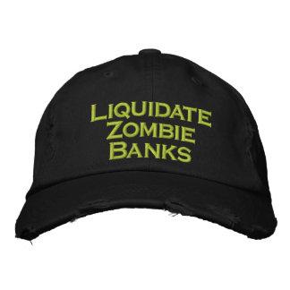 Liquide los bancos del zombi gorra bordada