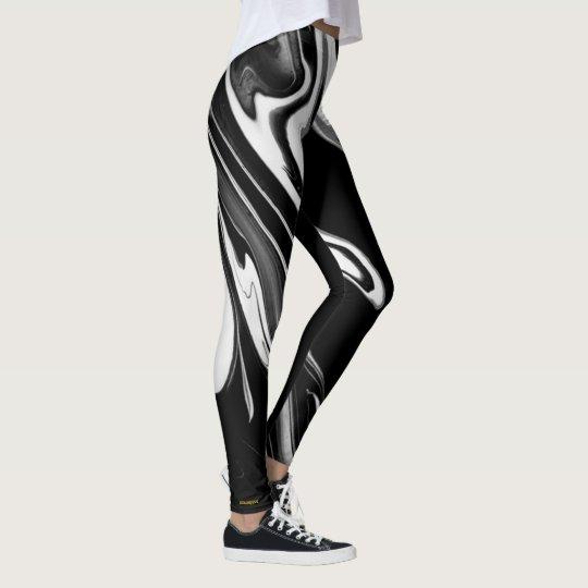 LiquidGold (en blanco y negro) Leggings