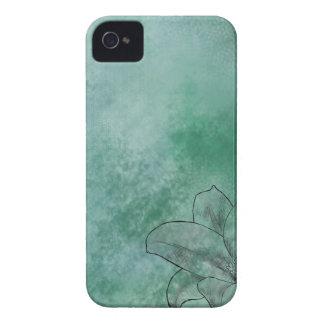 Lirio en azul iPhone 4 coberturas