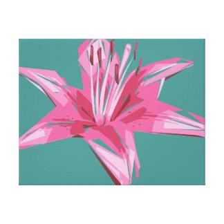 Lirio floral abstracto del verano lienzo