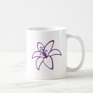 Lirio púrpura taza de café