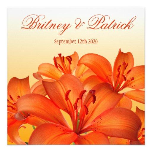 Lirio tigrado anaranjado - lirios que casan invita comunicados personales