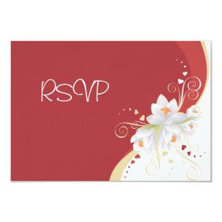 Lirios blancos en tarjeta del día de San Valentín Invitación 8,9 X 12,7 Cm