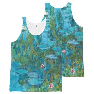 Lirios de agua de Claude Monet Nymphéas GalleryHD Camiseta De Tirantes Con Estampado Integral