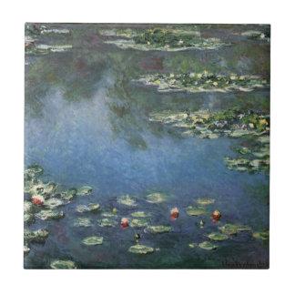 Lirios de agua por impresionismo floral del azulejo ceramica