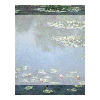 Lirios de agua por impresionismo floral del tarjetón