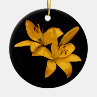 Lirios de oro adorno de navidad